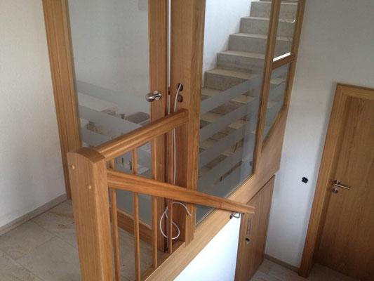 Glasdekorfolie Stiegenhaus Türe