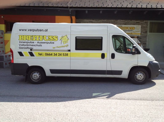 Verputz Breitfuss, Mandling: Autobeschriftung