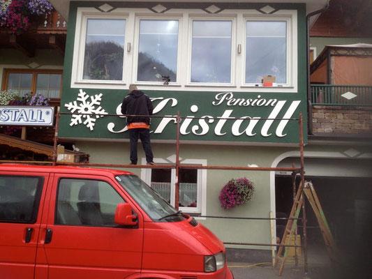 Pension Kristall, Pichl: Plexiglasbuchstaben