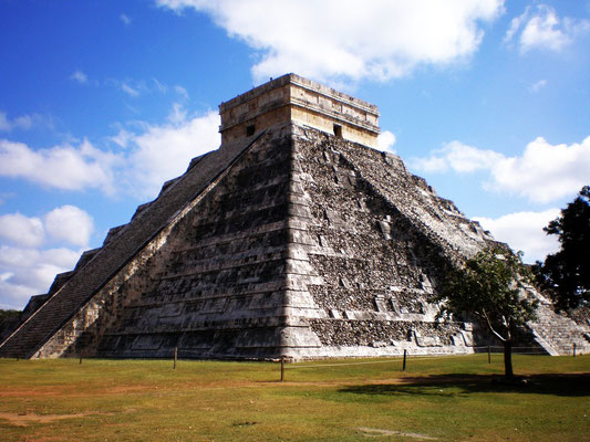 Chichen Itza, Mexico. it s amazing, if you clap your hands on the right spot, the top of the pyramid produces an echo that sounds like an eagle, an animal revered by the maya. Now that's good sound design!