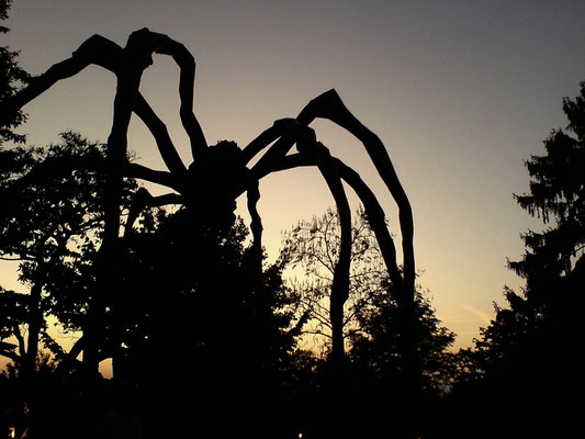 "The giant spider sculpture ""Maman"", in Riehen, Switzerland."