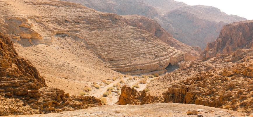 in der judäischen Wüste