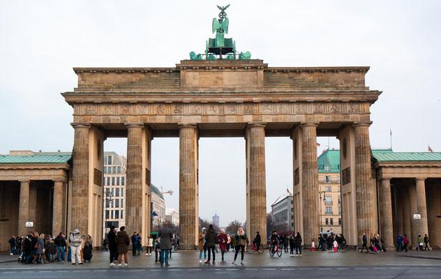 Die Westseite des Brandenburgertor's