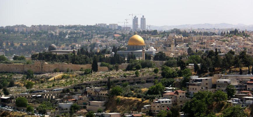 Ankunft am Abend in Jerusalem