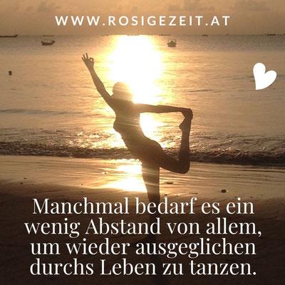 Lets fall in love Yoga und Kochworkshop   Abstand zu allem   Tänzerin   RosiVeda - Rosige Zeit - Sandra Roser