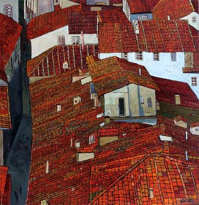 """Старые крыши. Модена"" 60х50см х,м 2011г."