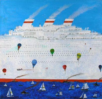 """""""Белый пароход"""" 60х60 х,м 2010г."""