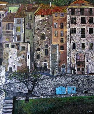 """Ville de Sisteron"" х,м 60х50см 2011г. (частная коллекция)"