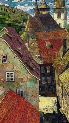 """Schmalkalden"" холст, масло 40Х70см 2003г. частная коллекция (Санкт-Петербург)"