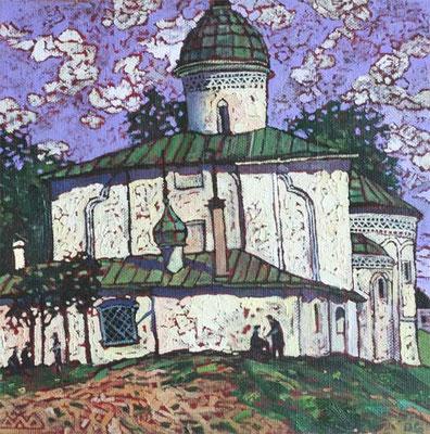 """Церковь Климента Папы Римского"" х,м 40х40см 2006г."