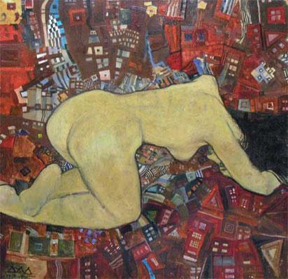"""""""Nude"""" 90x90cm х,м 2003-2005гг."""