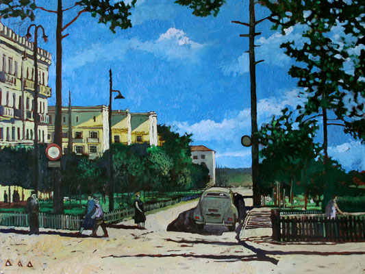 """Красногорск. Пионерская улица. 1955 год."" х,м 60х80см 2013г."
