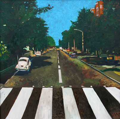 """Abbey road"" 50х50см х,м 2013г. частная коллекция (Санкт-Петербург)"