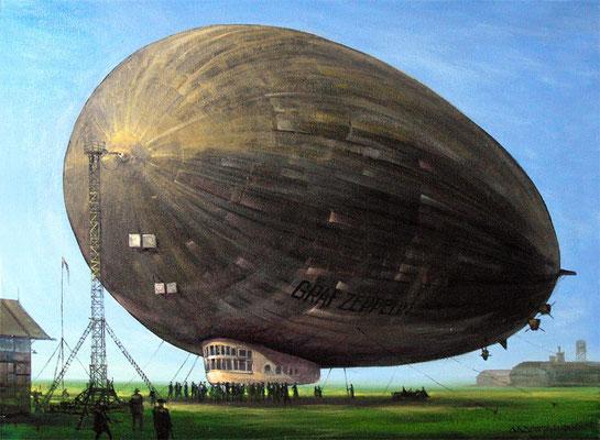 """Graf Zeppelin "" 60х80см х,м, 2008г. Частная коллекция. Санкт-Петербург"