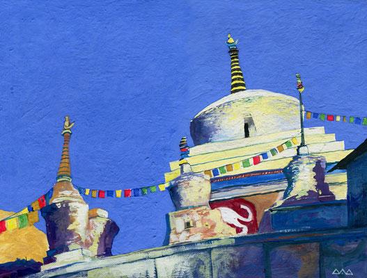 """Ladakh"" 30х40см темпера, картон 2015г. в коллекции Бориса Гребенщикова"