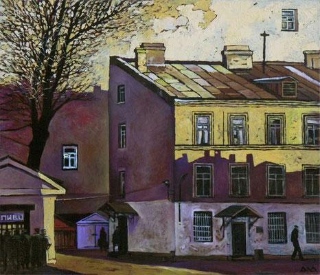 """Пиво на Петроградской. 1967 год."" х,м 50х60см 2011г."