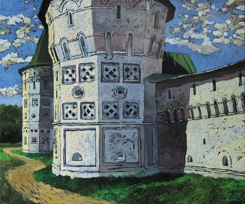 """Башни Иосифо-Волоцкого монастыря."" 50х60см х,м 2012г."