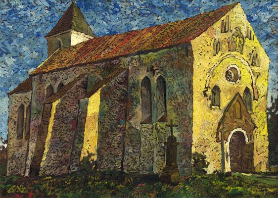 """Landskirche in Estland"" 50х70см х,м 2002г"