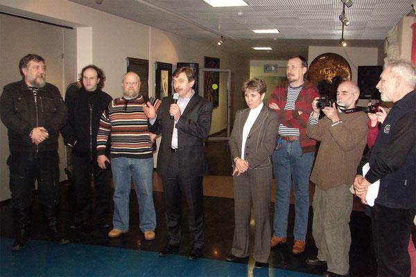"""Открытие выставки """"Митьки и космос"""" 18 января 2012г."""