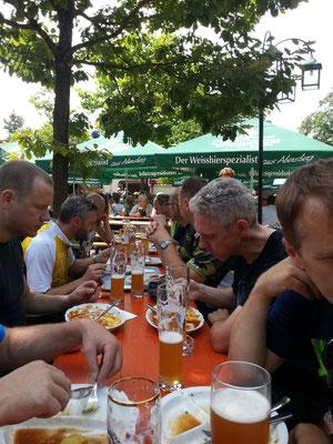 Mittag im Kuchlbauer - Biergarten Abensberg !!alkoholfreies Weizen!!