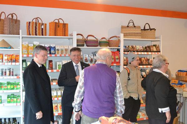 mit Pfarrer Norbert Viertel und Landrat Hans-Jürgen Petrauschke