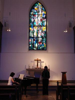 Marktkirche Essen · Probe · Charlotte Sander & Ainoa Padrón. 24. Oktober 2009