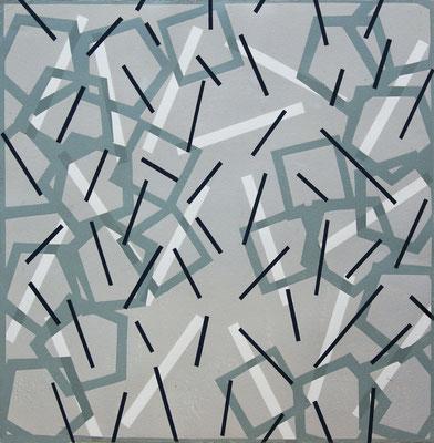 Jürgen Forster: Linie und Quadrat I, 39 x 39 cm, 2017