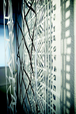 Jürgen Forster/Cornelia Rohde: Drei Paper-Cuts  Installation, drei Teile à 290 x 53 cm, 2018
