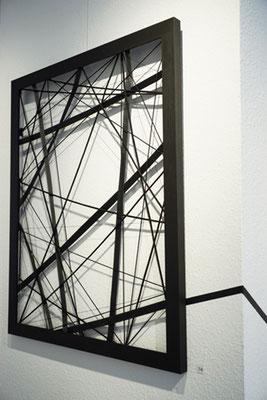 Cornelia Rohde: Netzwerk. Textile Bänder, 105 x 85 cm, 2017