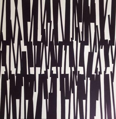 Jürgen Forster: Linien-Komplex. Schwarzdruck auf Bütten, 54 x 51 cm, 2017