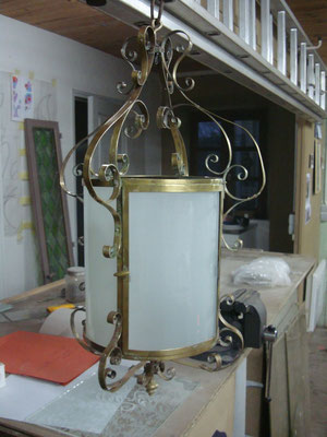 Restauration lampe (verre bombé par thermoformage)