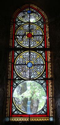 Eglise de MARCHAL (15) Pièces peinture grisaille et jaune d'argent + bavette + grille laiton