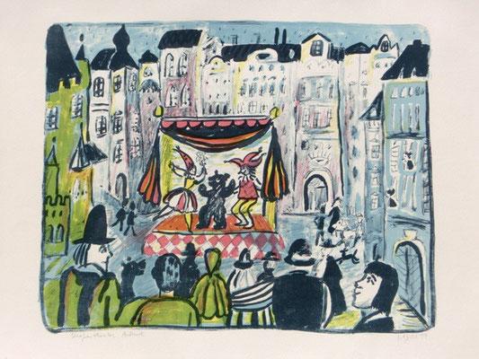Straßentheater / 43 x 51 cm