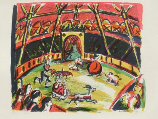 Zirkus-2 / 43 x 51 cm