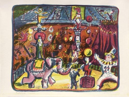 Zirkus-1 / 43 x 51 cm