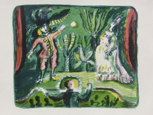 Opernszene / 43 x 51 cm