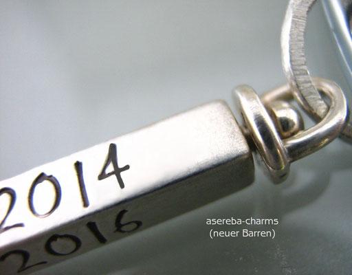 Silberbarren zum Beschriften (Sterlingsilber) - drehbare Halterung (neu)