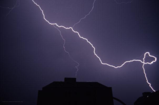 Gewitter/Blitz, Zürich, Schweiz, 1998 09 26 (MP0385) © Michael Pfenning