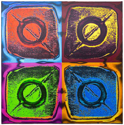 CADESOF (2014, 1/8, 65x65cm, MP0002, Scan, Inkjet-Pigmentdruck auf Leinwand, Acryl) © Michael Pfenning