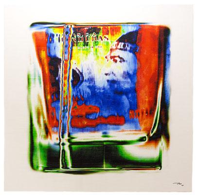 NOTAMAN (2015, 1/8, 120x120cm, MP0003, Scan, Inkjet-Pigmentdruck auf Leinwand, Acryl) © Michael Pfenning