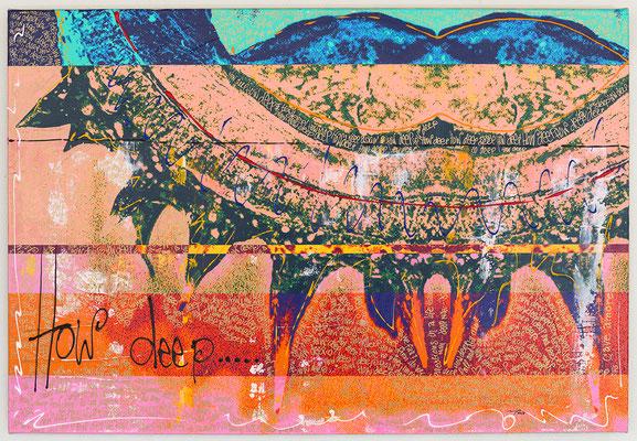 CAVE AMORES (2018, 95x65cm, Photographie, Inkjet Pigmentdruck auf Leinwand, Mischtechnik, MP0009) © Michael Pfenning