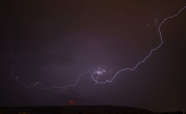 Gewitter/Blitz, Schaffhausen, Schweiz, 2012 06 30 (MP0373) © Michael Pfenning