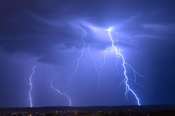 Gewitter/Blitze über Schaffhausen, Schweiz, 2012 08 22 (MP0357) © Michael Pfenning