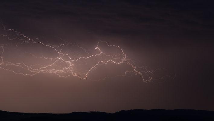 Gewitter/Blitz über dem Thurgau, Schweiz, 2014 06 28 (MP0355) © Michael Pfenning