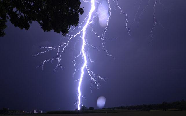 Gewitter/Blitzschlag in Schaffhausen, Schweiz, 2012 08 24 (MP0353) © Michael Pfenning