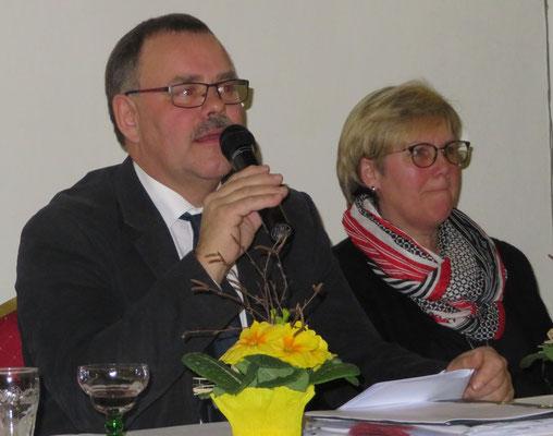 Vorsitzender Friedrich Krüger und 2. Vorsitzende Christina Mehwald