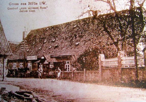 """Gasthof """"zum weißen Ross"""" - um 1925/Postkarte"""