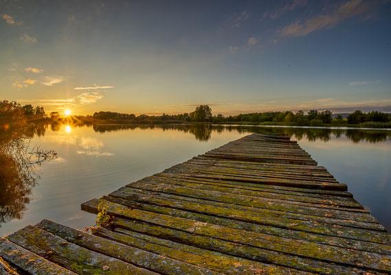 Sonnenuntergang Eisersdorfer Weihergebiet
