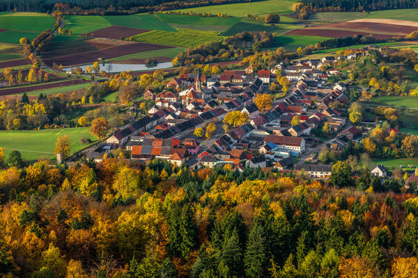 Blick vom Aussichtsturm auf Neustadt am Kulm