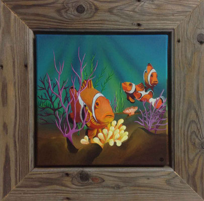 "Künstler: Mag.art Claudia Trentini ""Gefühl des Meeres"" 30*30cm, Acryl auf Leinwand, Zell am See 2015"